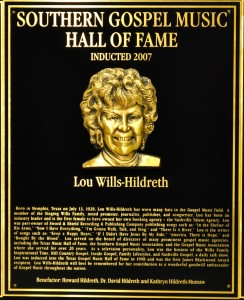 Lou Hildreth's plaque in the SGMA Hall of Fame