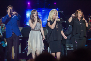 Karen Peck and New River performing at the Dove Awards. Photo Courtesy of Karen Peck and New River