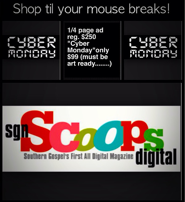CYBER MONDAY AT SGN SCOOPS