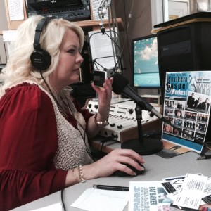 "Vonda Easley doing her show ""Strictly Southern with Vonda Easley"""