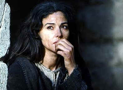 Monica Bellucci as Mary Magdalene. The Passion of the Christ (2004). Image courtesy of Top Ten Bible Films.