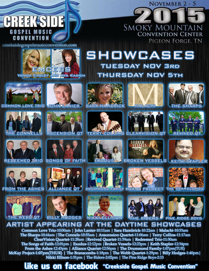Creekside  2015 Showcases