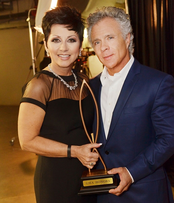 Candy & Kent Christmas pose backstage during the 2nd Annual GMA Honors held in Nashville, TN at Lipscomb University