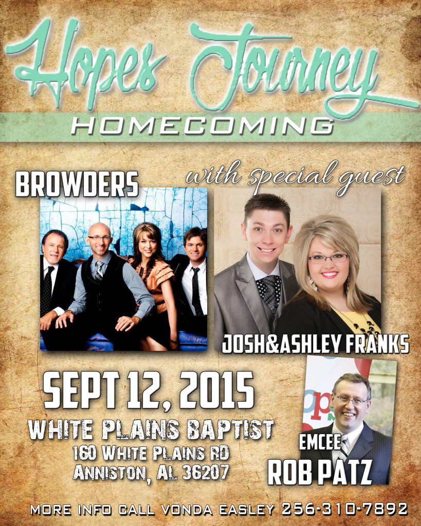 Hope's Journey Homecoming on Saturday September 12th
