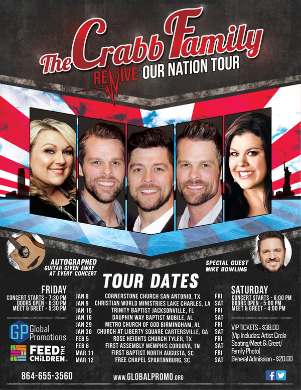 CRABB FAMILY Unveils Plans For REVIVE OUR NATION Tour
