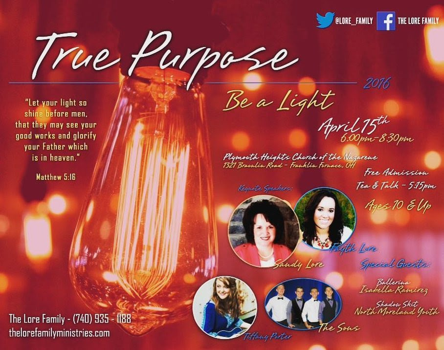 Lore Family Ministries Prepares for True Purpose Conference