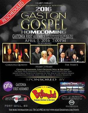 Heart 2 Heart Hosts Gaston Gospel Homecoming