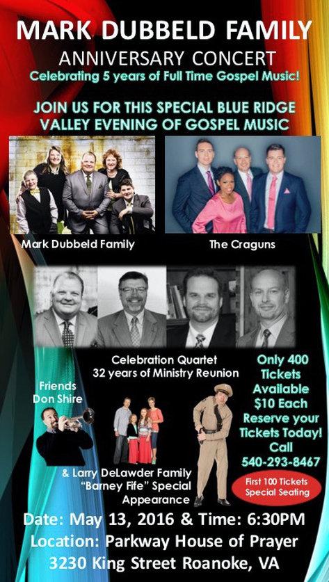 Mark Dubbeld Family Anniversary Concert