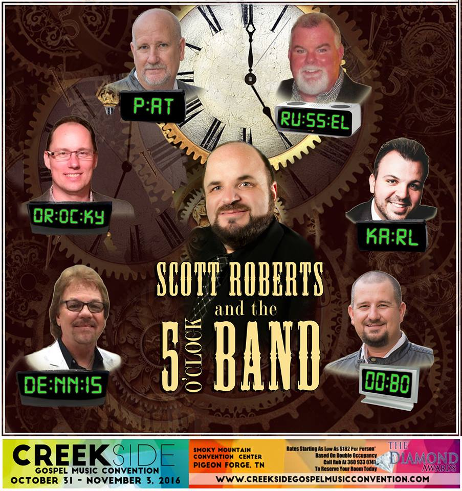 Scott Roberts and the Five O'Clock Band Return For Creekside 2016