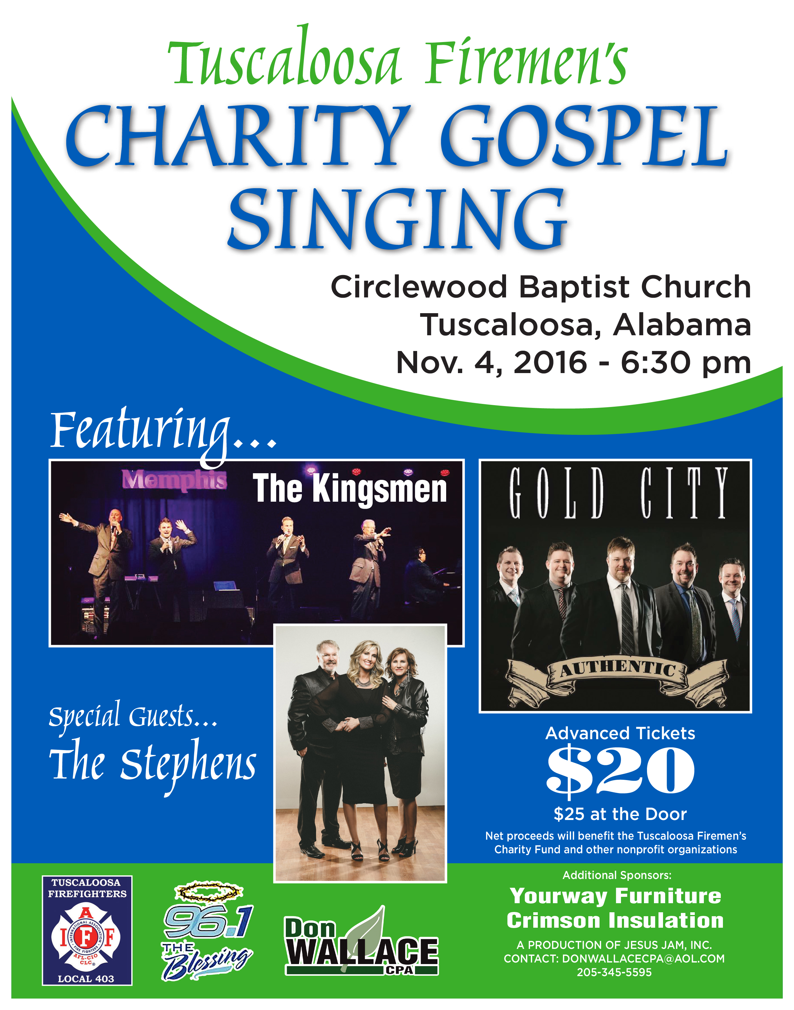 TUSCALOOSA FIREMEN'S CHARITY GOSPEL SINGING