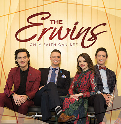 The Erwins' new release, Only Faith Can See, quickly rises on the Southern Gospel chart!