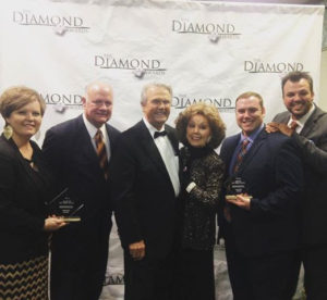 The Williamsons with Jerry Goff and Jan Buckner Goff at the Diamond Awards.