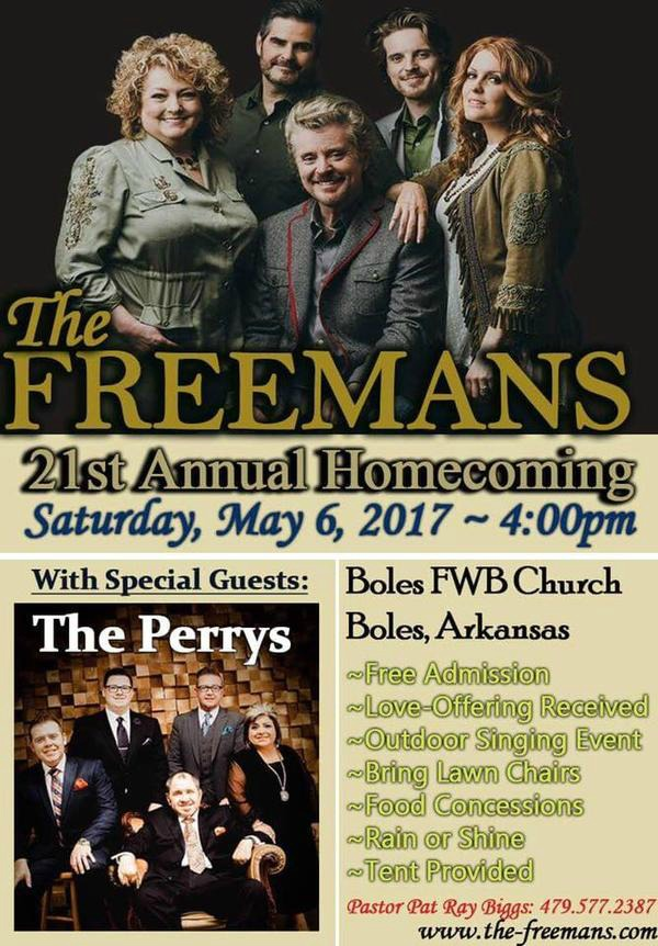 The Freemans Announce Details For 21st Annual Homecoming