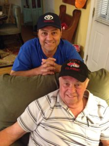 Jeff and dad Frank Treece