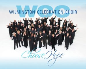 Joey Gore with the Wilmington Celebration Choir