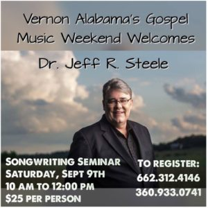 Jeff Steele.Vernon Alabama's Gospel Music Weekend