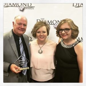 The Williamsons with 2017 Diamond Award