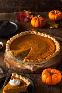 Rob Patz writes his Thanksgiving prayer - pumpkin pie