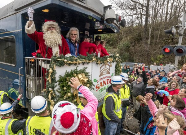 Ricky Skaggs & the 75th Annual Santa Train Bring Holiday Cheer to Appalachia