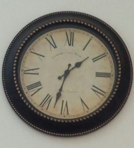 Clock, new year