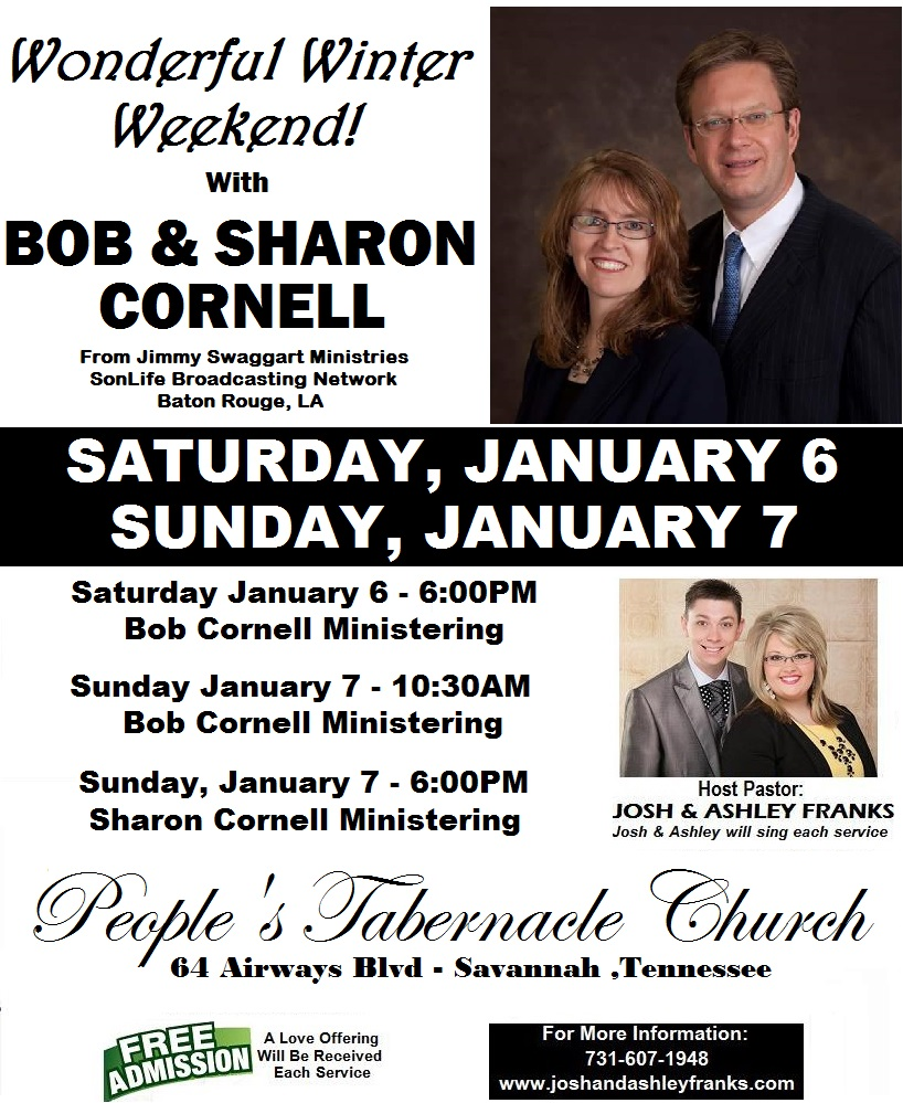 "Wonderful Winter Weekend with ""BOB & SHARON CORNELL"""