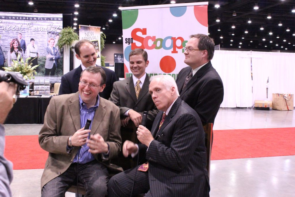 Rob Patz with Mark Trammell, Nick Trammell and Pat Barker