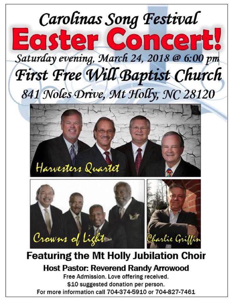 Carolinas Song Festival Easter Concert