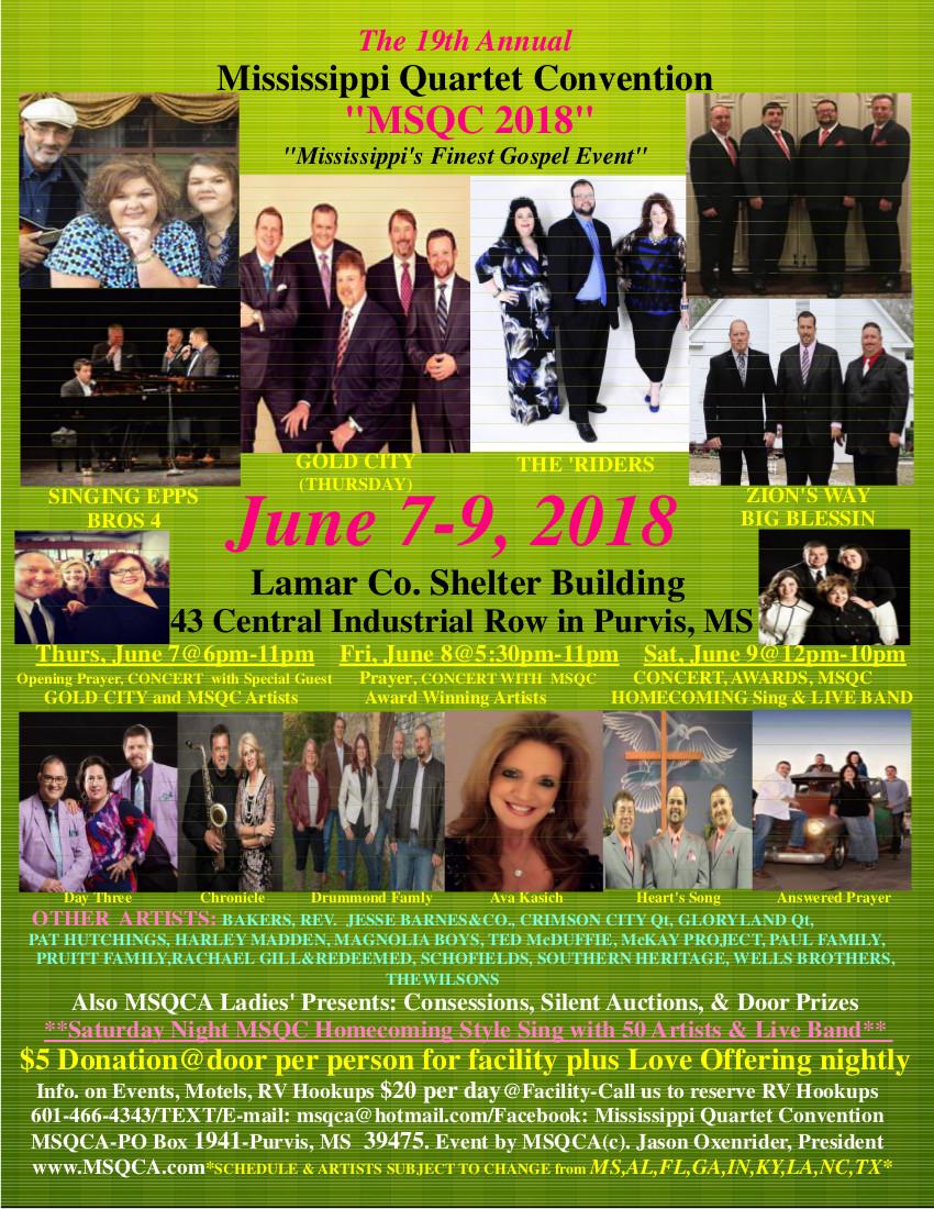 19th Annual Mississippi Quartet Convention