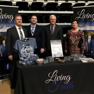 Living Faith at their record table