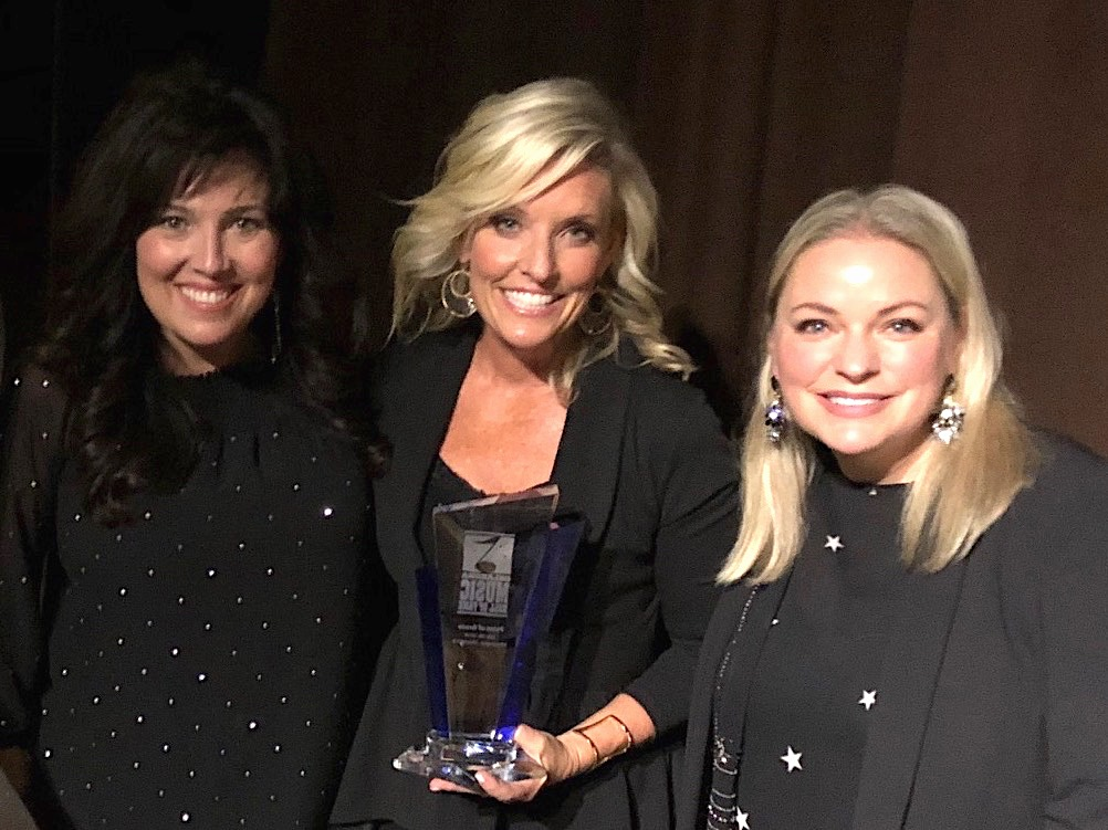 L-R: Point of Grace's Leigh Cappillino, Denise Jones and Shelley Breen at the recent Oklahoma Music Hall of Fame induction ceremony.