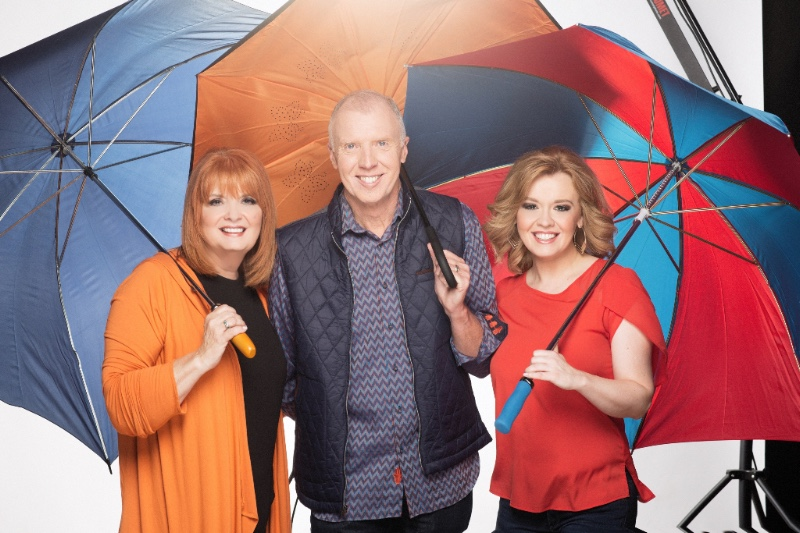 "The Talleys sing in the rain in their ""Grab Your Umbrella"" video"