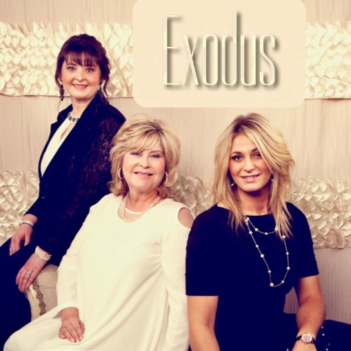 Photo: Exodus L-R: Mary Scott, Susan Brady, Hannah Brady
