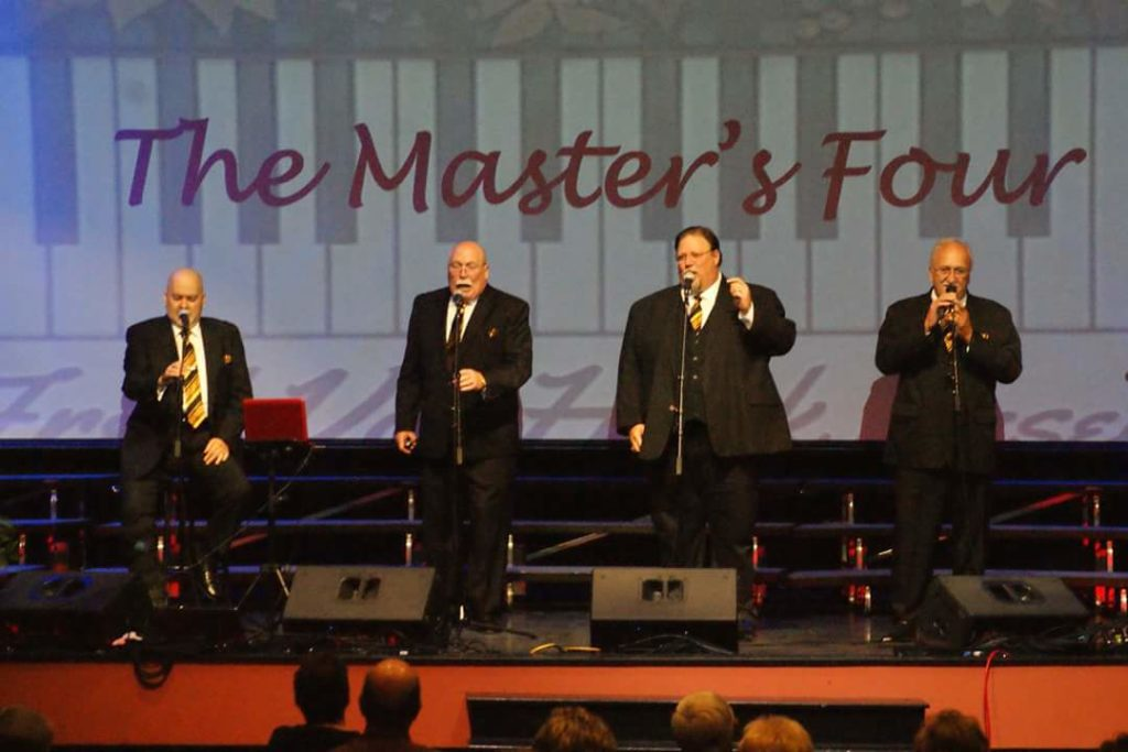 Terry Edwards with the Masters Four