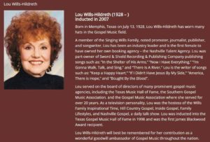 Lou Wills Hildreth bio