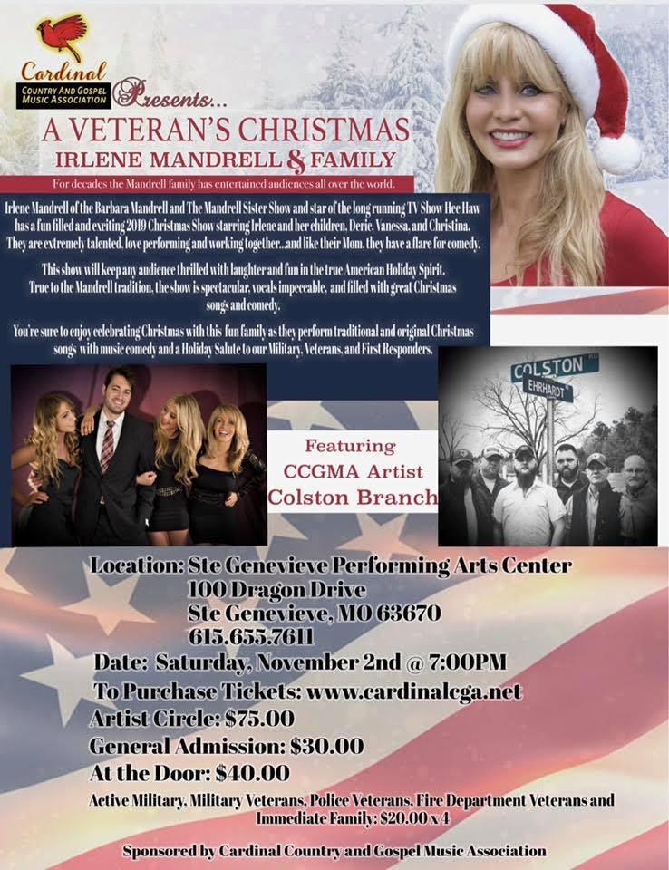 A Veteran's Christmas with Irlene Mandrell & Family!