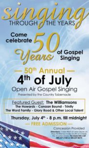 Williamsons gospel music artists on July 4th