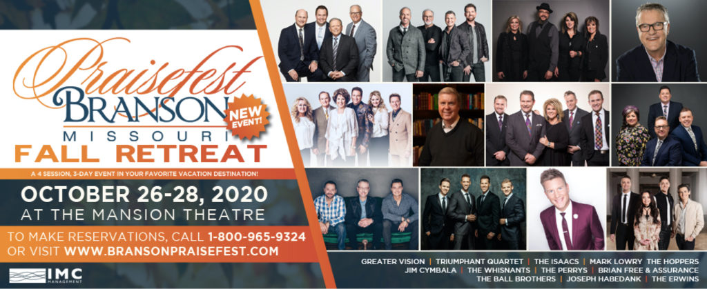 IMC CONCERTS ANNOUNCES PLANS FOR PRAISEFEST BRANSON FALL RETREAT