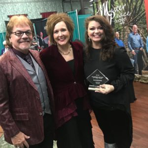 Dennis and Leslie mcKay with Jessica Horton at Diamond Awards 2019