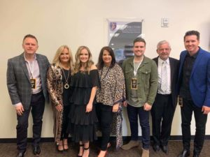 Karen Peck and New River at the 2019 Dove Awards. (Photo Source: Karen Peck and New River Facebook page.)