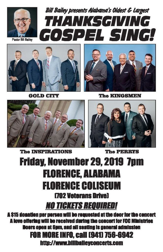 GOLD CITY, KINGSMEN headline Thanksgiving gospel concert