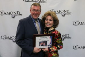 Rob Patz and Jan Goff at 2019 Diamond Awards