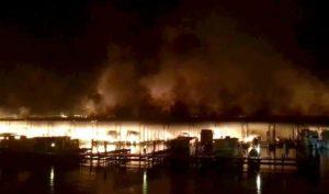 Jackson County houseboat fire